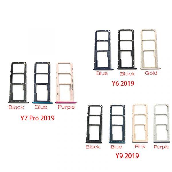 Support de Slot de plateau de carte SIM, pièce de rechange pour Huawei Y6 Y9 Y7 Pro 2019