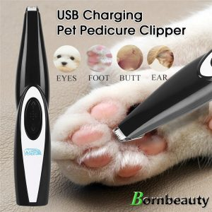 Dog Clippers Professional Pet Foot Hair Trimmer Dog Growing Clipper USB Rechargeable Butt Ear Eyes Hair Cutter Remover Low-noise