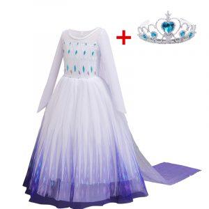 Robe de princesse des neiges pour les filles,vêtements de taille 4 à 10 ans, robes pour enfants, costume d'Halloween ou s'habiller pour le carnaval,