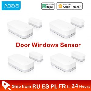 Xiaomi Aqara Door Window Sensor Smart Zigbee Wireless Connection Mini Door Sensor Work With Gateway Hub For Homekit Mi Home App