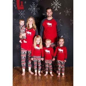 Pyjamas chaud correspondant à des tenues de famille pour maman et enfant,ensemble vêtements de nuit pour mère, fille, garçon et adulte, noël,