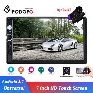 "Podofo 2 Din Android 8.1 Car Radio 7"" Bluetooth Stereo Multimedia player Autoradio Touch Screen Auto Radio For Universal"