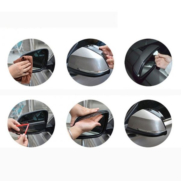 1Pair Universal Car Covers Car Rear View Mirror Sticker Protector Rain Guard Rearview Mirror Rain Eyebrow Visor Shade Hot