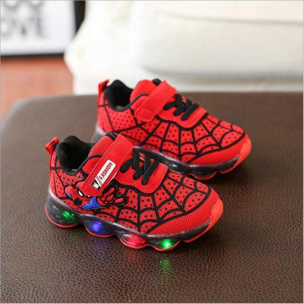 Chaussures lumineuses Spiderman pour enfants, baskets de Tennis souples et respirantes pour garçons et filles, nouvelle collection printemps-automne