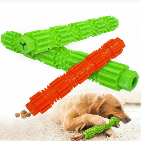 Dog Toothbrush Durable Dog Chew Toy Stick Soft Rubber Tooth Cleaning Point Massage Toothpaste Pet Toothbrush Molar Pet Supplies