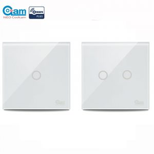 NEO COOLCAM Smart Light Switch Touch Sensitive Wall Switch Home Automation Z Wave Wireless Smart Remote Control Light Switch