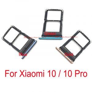 Carte Sim SD plateau support fente adaptateur pour Xiaomi 10 Pro Sim plateau carte lecteur pièces de rechange pour Mi10 Mi 10 Pro 10pro Mi10pro