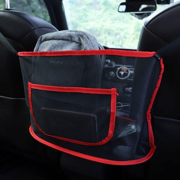 Portable Car Ceiling Storage Net Pocket Roof Interior Cargo Net Bag Car Trunk Storage Pouch Sundries Storage Organizer