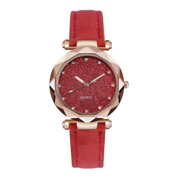 Women Watch Rhinestone Romantic Starry Sky WristWatch Fashion Ladies Leather Watch Clock for Women Relogio Feminino Montre Femme