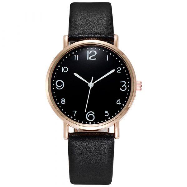 New Women Luxury Quartz Alloy Watch Ladies Fashion Stainless Steel Dial Casual Bracele Watch Leather Wristwatch Zegarek Damski