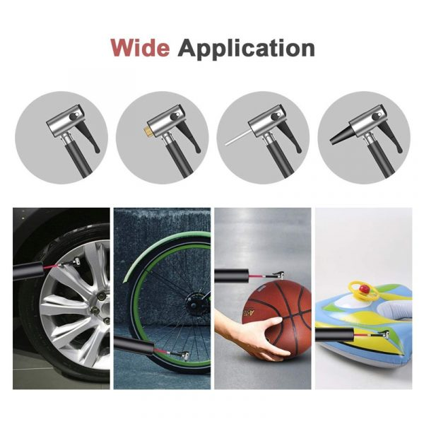 12V 150PSI Portable Car Air Compressor Mini Inflatable Electric Pump for Car Bicycle Rechargeable Pump With LED Emergency Light