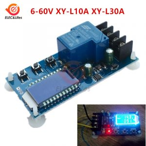 10A 30A 6-60V Lead-Acid Lithium Battery Charger Control Module Automatic charging control Overcharge Protection Board 12V 24V
