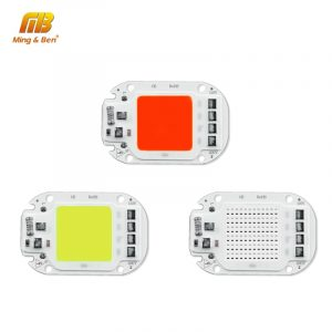 LED COB Lamp Bead 110V 220V 20W 30W 50W Smart IC LED Chip DIY For LED Floodlight Decoration Red Green Blue Yellow Warm Day White