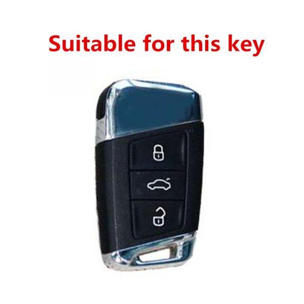 High Quality Mature Carbon Fiber Matte Car Key Case For Volkswagen Polo Golf Skoda Superb A7 Passat Beetle interior accessories