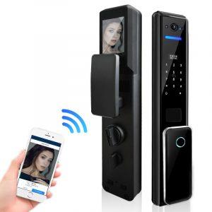 Serrure à empreinte digitale, déverrouillage numérique par empreinte digitale, déverrouillage par téléphone intelligent, clé à broche, déverrouillage de porte d'appartement