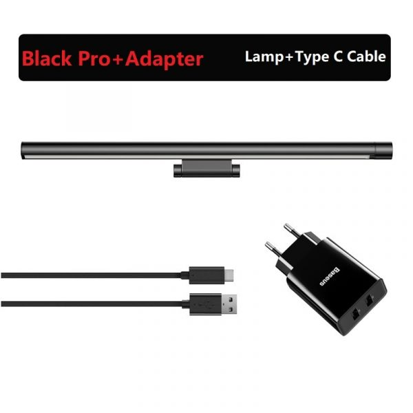 Baseus LED Desk Lamp Dimmable Office Computer Eye-caring Table Lamp for Study Reading Screen Monitor Hanging Light Bar