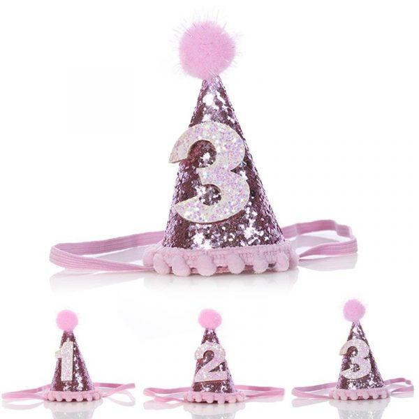 New Dog Birthday Hat Decorative Shiny Dog Hat Pet Headband Pet Headwear for Dogs Cats