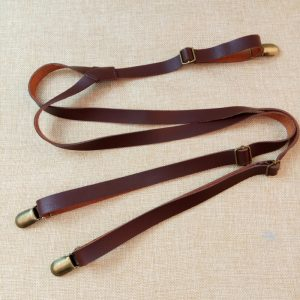 Bretelles solides en cuir synthétique Pu pour hommes/femmes, largeur 1.5cm, bretelles dos Y 3 Clips