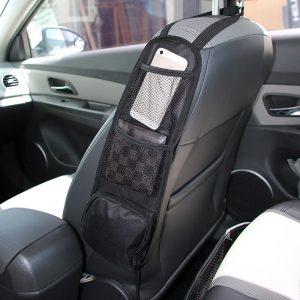 Car Seat Organizer Auto Seat Side Storage Hanging Bag Multi-Pocket Drink Holder Mesh Pocket Car Styling Organizer Phone Holder