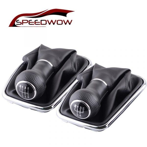 SPEEDWOW 5/6 Speed Car Gear Shift Knob Lever Shifter Gear Shift Collars For Volkswagen VW 04-09 Golf MK4 GTI R32 Jetta