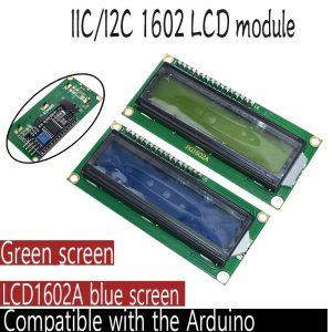 Module LCD1602 + I2C LCD 1602, écran bleu vert PCF8574 IIC I2C LCD1602, plaque d'adaptation pour arduino uno r3 mega2560