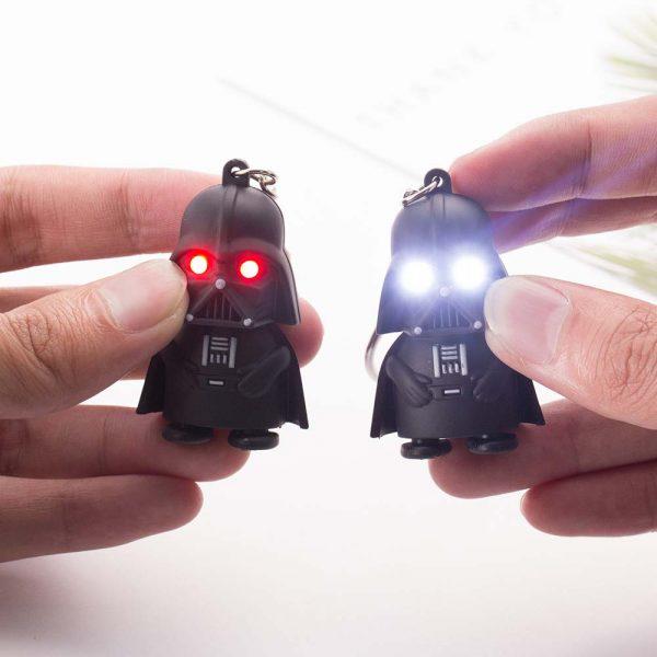 FAMSHIN – porte-clés Star Wars de haute qualité, pendentif dark vador noir clair, cadeau de fête pour homme, 2018