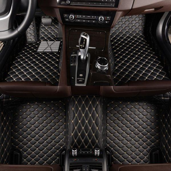 HLFNTF Custom car floor mats for BMW F10 F11 F15 F16 F20 F25 F30 F34 E60 E70 E90 1 3 4 5 7 GT X1 X3 X4 X5 X6 Z4 car carpet