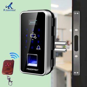 Serrure de porte intelligente avec capteur d'empreinte digitale, serrure d'entrée sans clé pour le bureau et la maison, 2000 utilisateurs