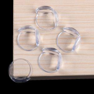 Protection des coins de tables pour bébé, transparent,lot de 8 pièces protectrices des angles de meubles, couverture protectrice pour table, accessoire de sécurité pour enfant,