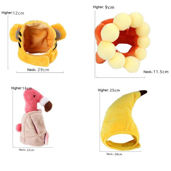 Cotton Pet Hat Decorative Party Pet Cap for Cats Small Dogs Adjustable Cute Cosplay Pet Accessories Cute Headwears for Cat Puppy