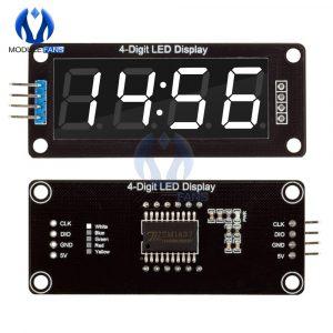Tube d'affichage numérique à 4 chiffres 0.56, décimal, horloge à 7 Segments, Module à Double points, affichage blanc de 0.56 pouces pour Arduino, TM1637