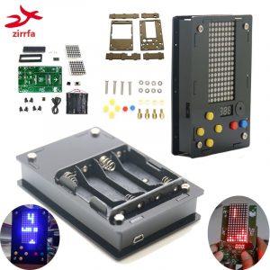 Kit de jeu à matrice 8x16 points à monter soi-même, machine de jeu, avec acrylique, électronique, bricolage à la maison,