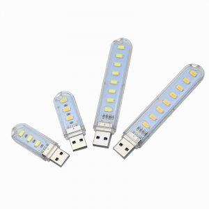 USB LED Book Lights 3LEDs 8LEDs SMD 5630 5730 LED Bulb 5V Power Input White 5000-6500K Warm White 3000-3500K USB Night light