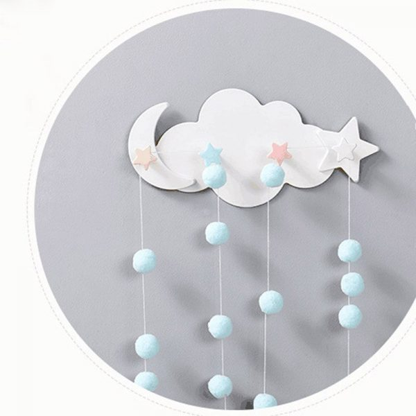 Crochet de rangement mural sans clou en forme d'étoile, de lune, de nuage, créatif, mignon, pour vêtements, décoration de chambre d'enfants, pour clé suspendue, pour la cuisine