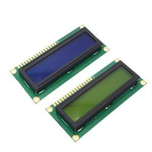 LCD 1602 – Module d'affichage HD44780, écran 16x 2, contrôleur avec lumière bleu noir vert