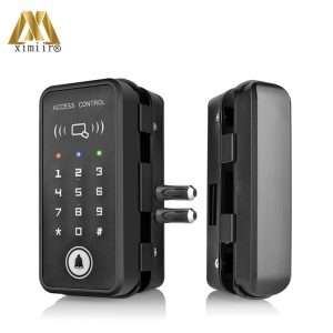 Smart Door Lock With Password & Card Control XM-R1 Wooden Glass Door Lock Home Office Anti-theft Security Electric Lock