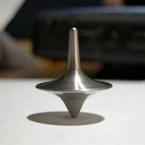 Toupie gyro en métal et argent de grande précision, pirouette avec l'imprimé totem de film, populaire, apda7a08,
