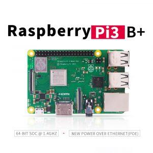 Raspberry Pi 3 modèle B + (plus), processeur Broadcom 1.4GHz intégré, quad core 64 bits, Wifi, Bluetooth et Port USB