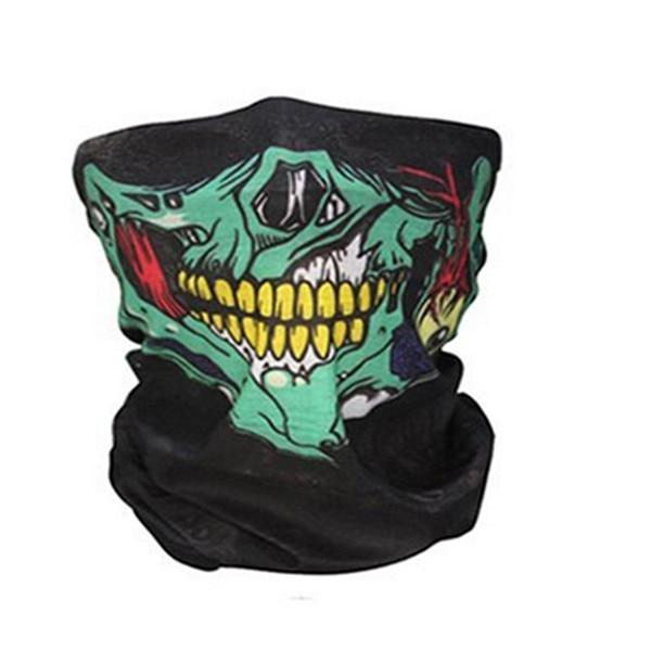 Hommes écharpe Halloween Ride bandana femmes foulard Ski crâne demi visage masque fantôme écharpe cou randonnée écharpes Cuello cagoule masques