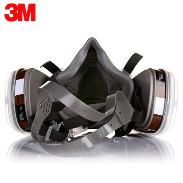 3M 6200 Gas Mask Paint Spraying Safety Work Half Face Respirator Industry Dust Mask With Filter