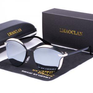 LMAOCLAN – lunettes de soleil polarisées de luxe pour femmes, yeux de chat, Vintage, marque de styliste, Oculos Gafas