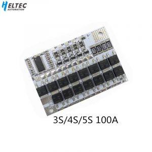 BMS 3S/4s/5s 12V 16.8V 21V 100a, carte de Circuit de Protection de batterie Lithium-ion, LMO ternaire, Module de charge d'équilibre li-polymère