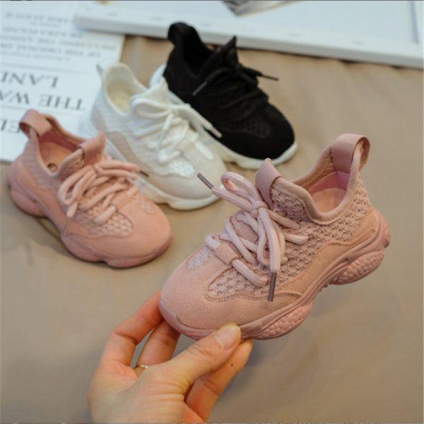 2021 nouveau Printemps/Automne Enfants Chaussures Enfant En Bas Âge Unisexe Garçons Filles Sneaker Maille Respirant Mode Décontracté Enfants Chaussures Personnaliser Logo