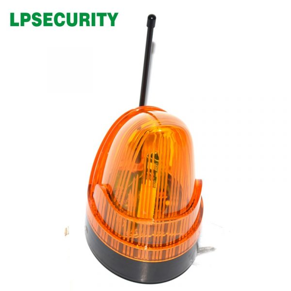 12V 24V 220v outdoor Antenna LED or Bulb Alarm Light Strobe Flashing Emergency Warning Lamp wall mount for Gate Opener no sound