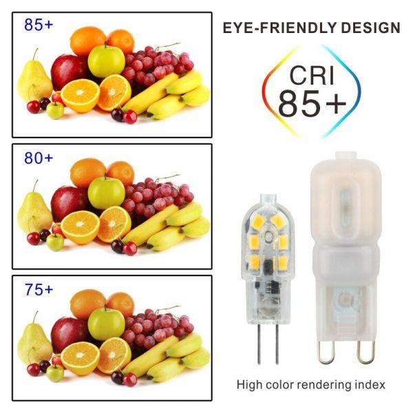 10PCS LED Bulb 3W 5W G4 G9 Light Bulb AC 220V DC 12V LED Lamp SMD2835 Spotlight Chandelier Lighting Replace 20w 30w Halogen Lamp