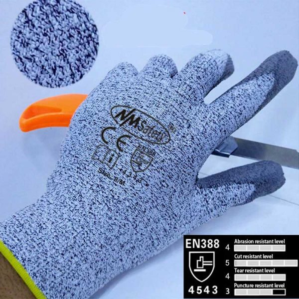 NMSafety Anti-Knife Security Protection Glove with HPPE Liner Cut Resistant Safety Working Gloves