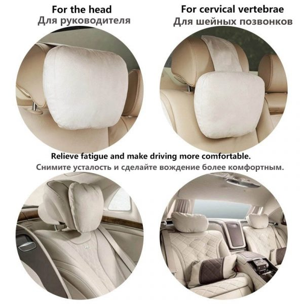 Top Quality Car Headrest Neck Support Seat / Maybach Design S Class Soft Universal Adjustable Car Pillow Neck Rest Cushion