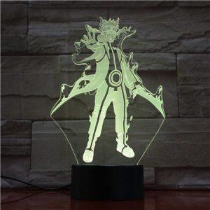 Lampe de nuit Naruto kyuubi modèle, veilleuse à couleur changeante, télécommande, Naruto Shippuden, lumière 3D, lampe de bureau pour la décoration