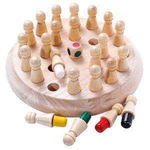 Jeu de mémoire en bois pour enfants, jouet pédagogique et éducatif pour éveil de la logique et de la réflexion