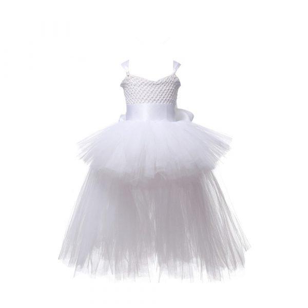 Robe Tutu de soirée en tulle avec col en V,vêtement pour fête et anniversaire, costume d'halloween pour fille, tenue noire, 1 — 14 ans,